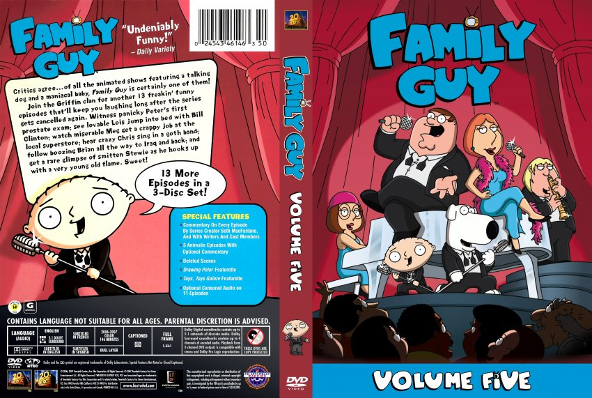 Volume 5 Guy Family Dvd
