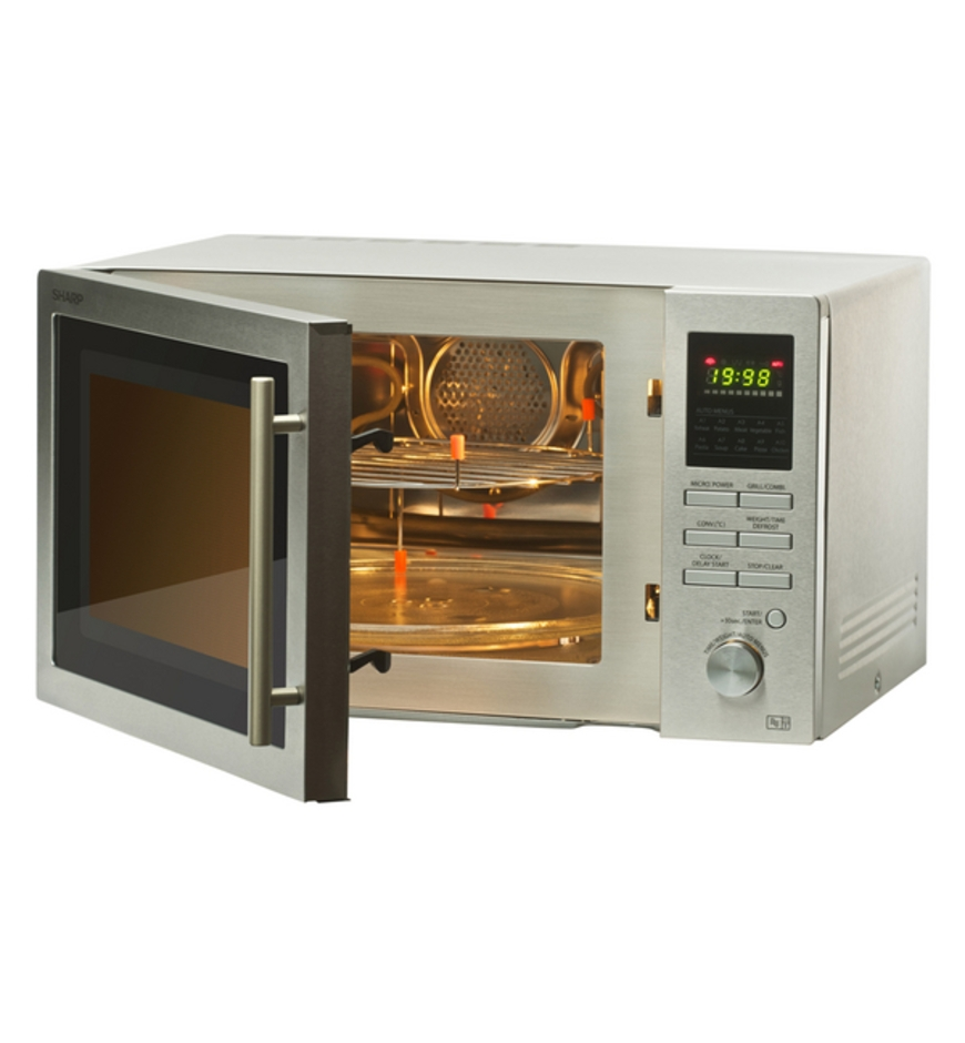 sharp r 84ao 220 volt 25l convection microwave oven with grill
