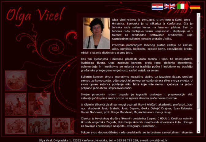 Nove web stranice Olge Vicel