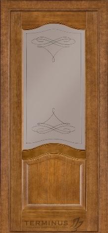 Двери Терминус 03 дуб темный с матовым бронзовым стеклом