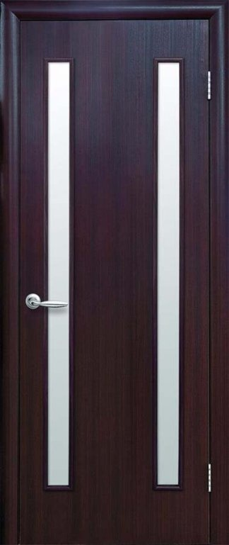 Двери Вера Новый Стиль венге 3D со стеклом сатин