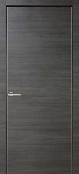 Межкомнатные двери Cortex Alumo ПГ ash line с алюминиевыми торцами