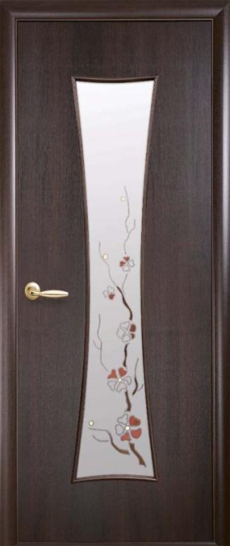 Двери Часы Новый Стиль каштан со стеклом Р1