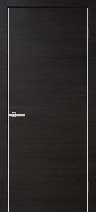 Межкомнатные двери Cortex Alumo ПГ wenge line с алюминиевыми торцами