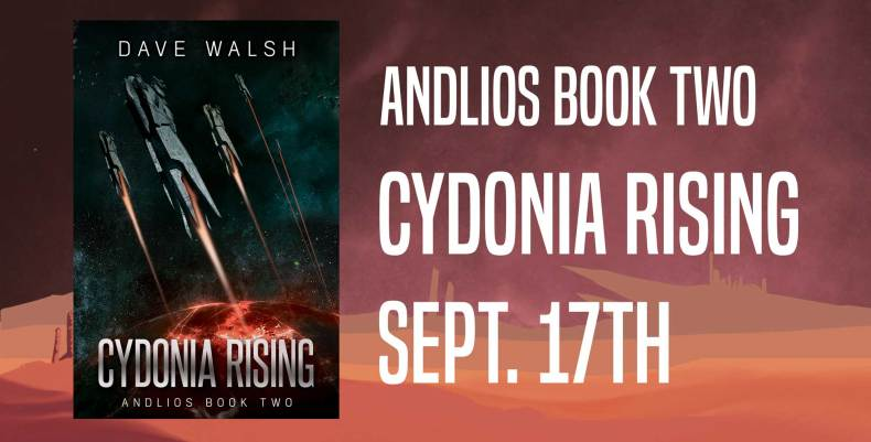 Andlios Book Two: Cydonia Rising out September 17th!
