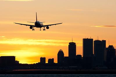 Airbus on final to Boston