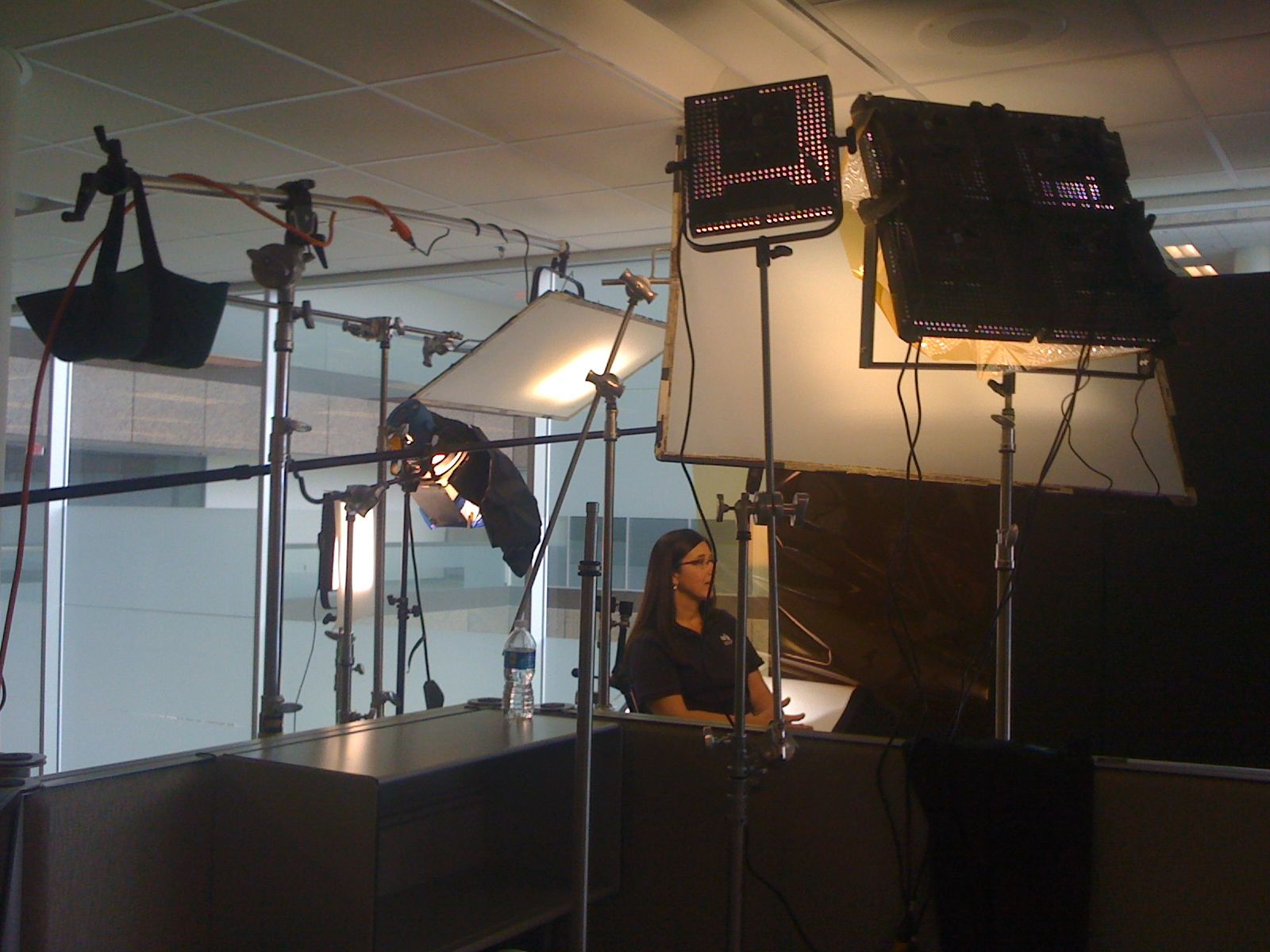 new led interview lighting dvd from