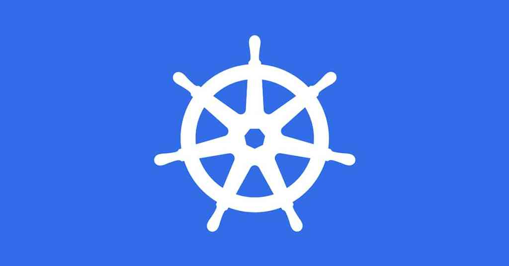 Kubernetes Logo on Blue Background