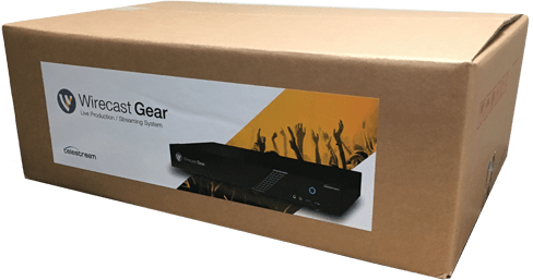 Wirecast Gear Shipping Box