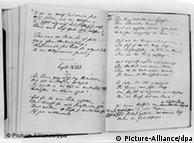 Ein aufgeschlagenes Exemplar der ersten, 1844 erschienenen Einzelausgabe von Deutschland - Ein Wintermärchen