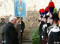 Steinmeier and Frattini at La Risiera di San Sabba memorial