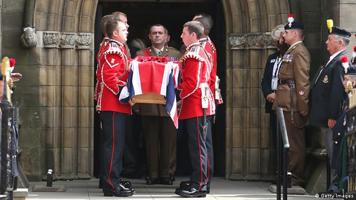 Soldiers at Lee Rigby's funeral