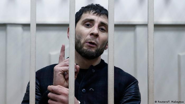Обвиняемый в убийстве Немцова Заур Дадаев в зале суда