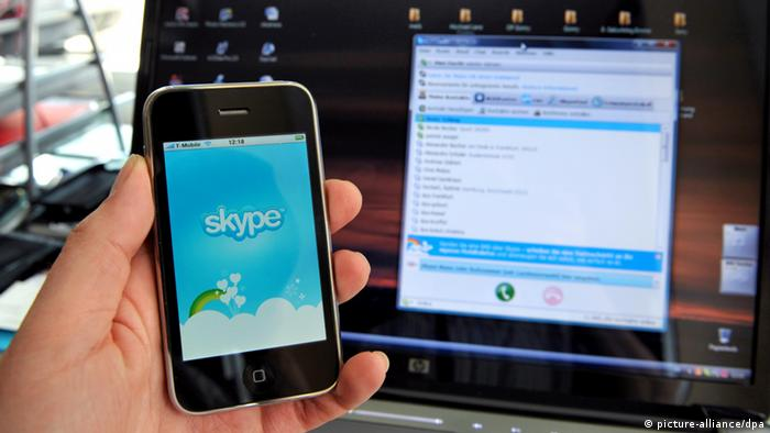 Smartphone Apps - Skype (picture-alliance/dpa)