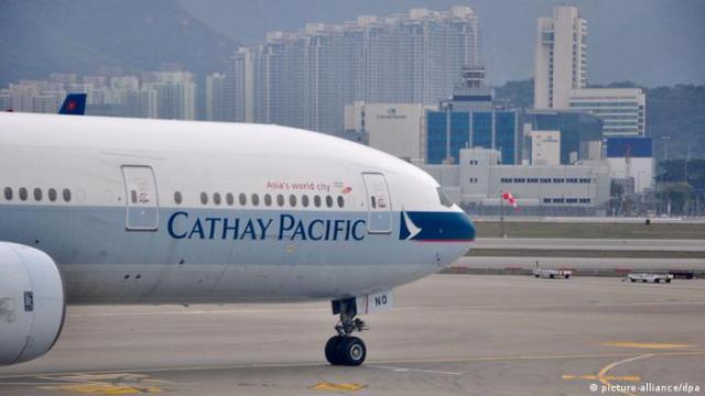 Bildergalerie Airlines Logo Cathay Pacific Airways (picture-alliance / dpa)