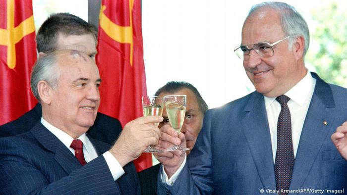Audioslideshow Helmut Kohl Michail Gorbatschow (Vitaly Armand/AFP/Getty Images))