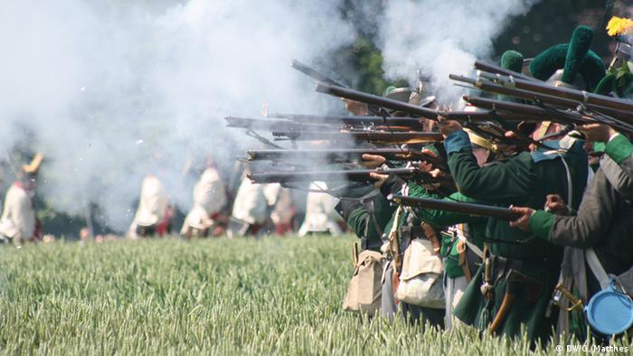 Belgien Reenactment der Schlacht von Waterloo