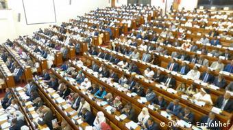 Äthiopien Parlament Hailemariam Desalegn (DW/Y. G. Egziabher)