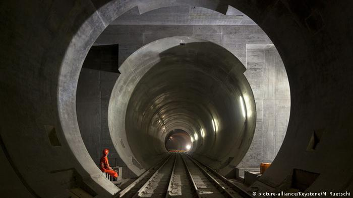 Schweiz Gotthard Basistunnel