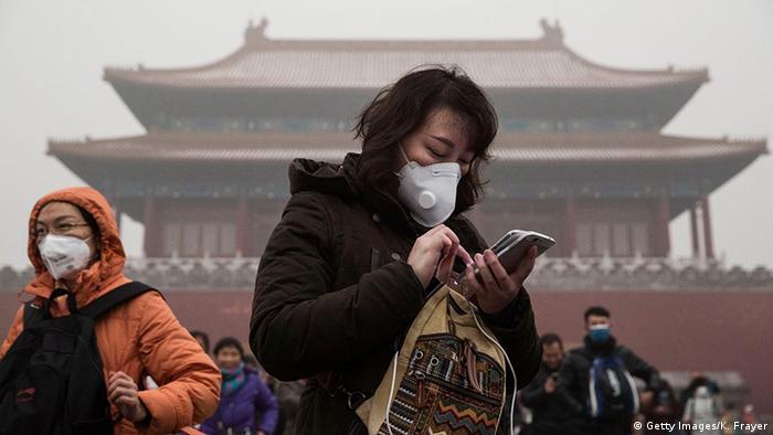 China Atemschutzmasken in Peking (Getty Images/K. Frayer)