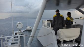 Italian border patrol in the Mediterranean (Photo DW/K. Hoffmann)