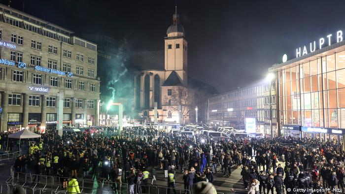 Domplatz, Cologne, on New Year's Eve, 2016