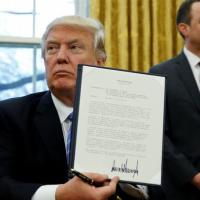 Fast work: Donald Trump's executive actions so far