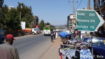 Äthiopien Sabata Wirtschaft Arbeitsmarkt (DW/M. Y. Bula)