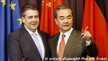 Deutschland G20 Außenministertreffen in Bonn Gabriel mit Wang Yi (picture alliance/AP Photo/M. Probst)