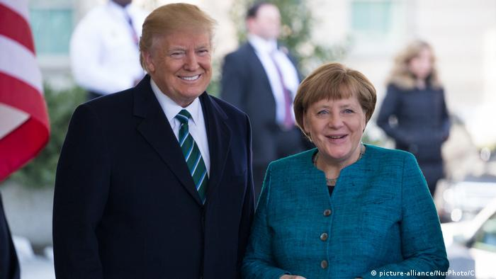 USA Donald Trump und Angela Merkel (picture-alliance/NurPhoto/C. May)