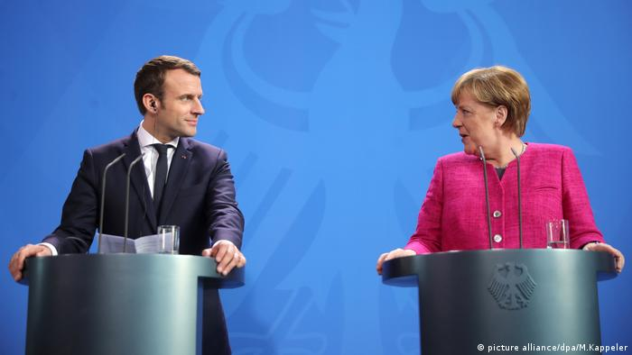 Image result for Macron, Merkel, Photos