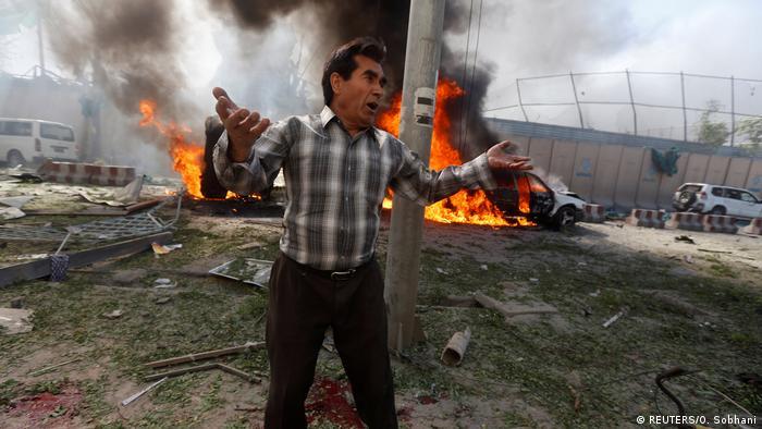 Afganistan Deutsche Botschaft bei Anschlag in Kabul massiv beschädigt (REUTERS/O. Sobhani)