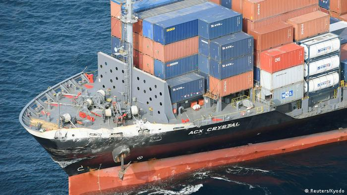 Philippine-registered container ship ACX Crystal (Reuters/Kyodo)