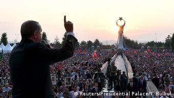 Türkei Kundgebung Jahrestag Putschversuch in Ankara (Reuters/Presidential Palace/Y. Bulbul)