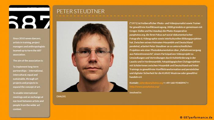 Screenshot of 687performance.de website Peter Steudtner