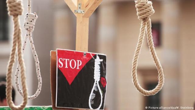 Aktion gegen Folter und Todesstrafe (Picture-alliance / dpa / W. Steinberg)