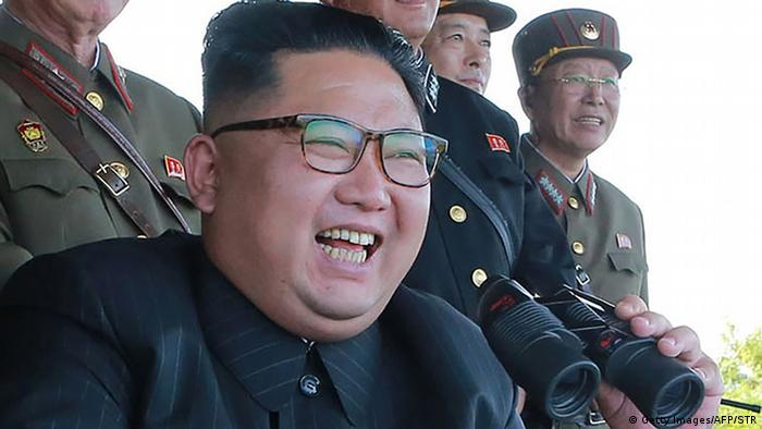 North Korean leader Kim Jong-Un presides over a target strike exercise (Getty Images/AFP/STR)