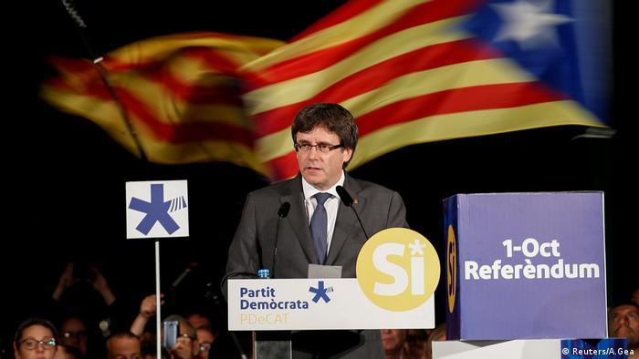 Katalonien Carles Puigdemont (Reuters/A.Gea)