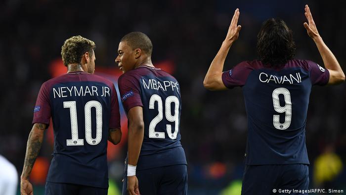 Champions League - Paris St Germain vs Bayern München Neymar Mbappe Cavani (Getty Images/AFP/C. Simon)