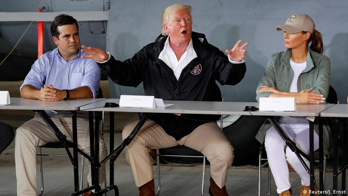 USA Präsident Donald Trump in Puerto Rico (Reuters/J. Ernst)