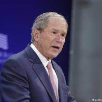 Former US President George W. Bush takes aim at Donald Trump, denounces 'bullying and prejudice'