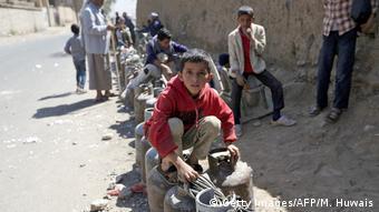 Jemen humanitäre Lage Sanaa (Getty Images/AFP/M. Huwais)