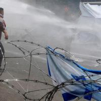 Lebanese security forces fire tear gas at protesters near US embassy