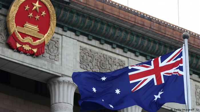 Australian flag at China's Great Hall of People (Getty Images/F. Li)