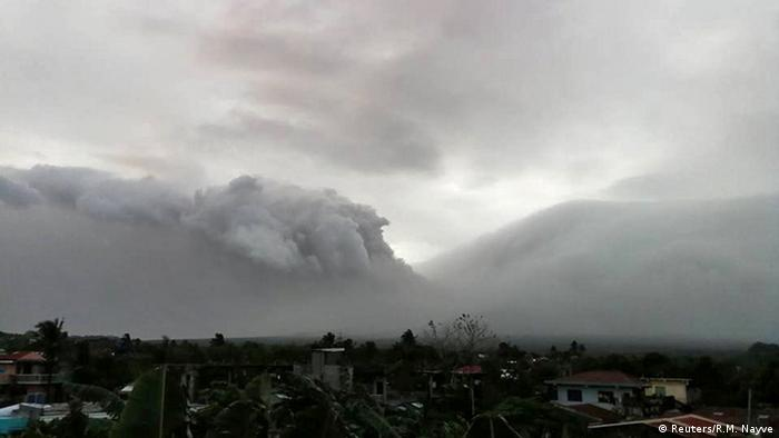 Mount Mayon erupts in Legazpi City, Philippines