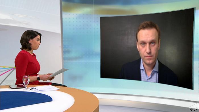 DW's Zhanna Nemtsova interviewing Alexei Navalny (DW)