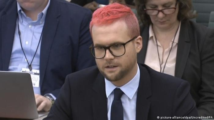 Christopher Wylie answers questions in Britain's House of Commons