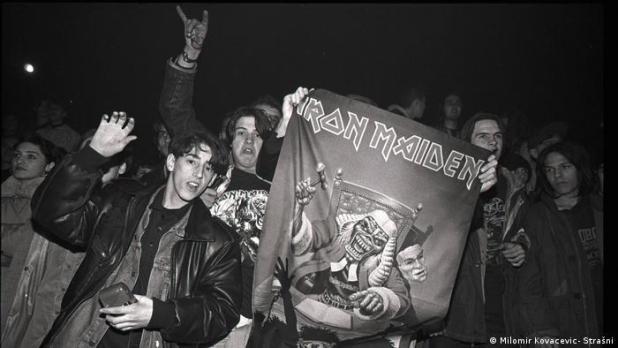 Konzert Iron Maiden Sängers Bruce Dickinson am 14.12.1994 in Sarajevo