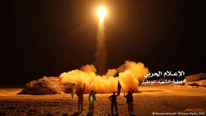 A file photo of a missile launch from Houthi Rebels (Reuters/Houthi Military Media Unit)