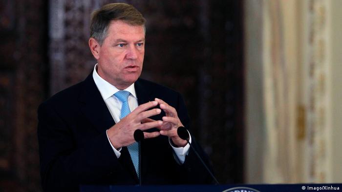 Romanian President Klaus Iohannis (Imago/Xinhua)